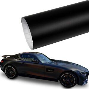 Autofolie [9,8€/m²] Schwarz Matt Car Wrap Auto Klebe Folie Luftkanal BLASENFREI