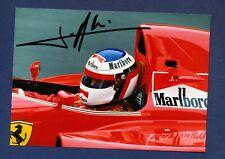 JEAN ALESI  - Formula 1 Ferrari - 5x7  color  photograph - SIGNED
