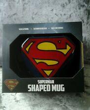 Official Superman Logo-shaped Mug | 3D Moulded DC Comics Superman Mug