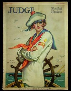 Ruth Eastman Illustrated Cover Only Judge Magazine June 6 1925 U.S. Flirt Girl