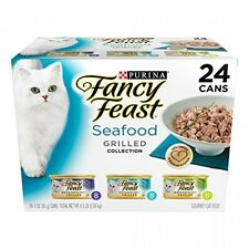 Fancy Feast Gourmet Cat Food, Grilled Seafood Variety, 3-Ounce Cans, Pack of 24