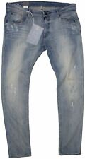 New G-Star Raw Mens Jeans 3301 Super Slim in Light Aged Colour Size W:40/L:34