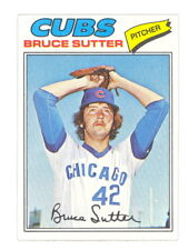 1977 TOPPS BASEBALL BRUCE SUTTER ROOKIE CARD 144 NO CREASES SHARP EXMT-NM+ (494)