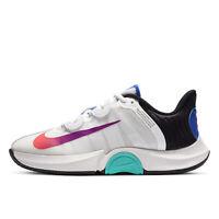 NIKE AIR ZOOM GP TURBO HC Womens Hard Court Tennis Shoes, White / Multi, Size 8