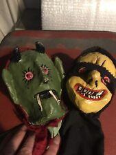 Vintage Papier Mache Hand Puppets
