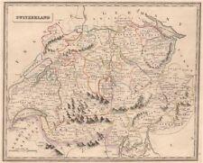 Svizzera. Geneva mostrato come kokkina all'interno degli Stati Sardi. Johnson 1850 Mappa