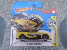 Hot Wheels 2017 #080/365 2015 MAZDA MX-5 MIATA jaune HW Vitesse Graphiques Volk