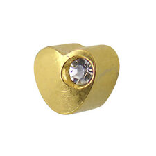 Studex Ear Piercing Gold Plated Heart and Offset Crystal Stud Earrings 4mm