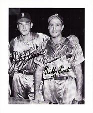 Boston Braves signed Sibby Sisti Johnny Antonelli coa