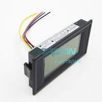 4-wire 3 1/2 AC 0-500V Digital Blue LCD Volt Panel Meter voltage power supply