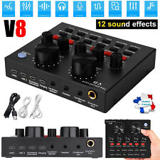 V8 Audio externe Carte son Micro-casque USB Carte son diffusée en direct Pour PC