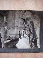 Stereoscope Photograph River Aare Gorge  Switzerland