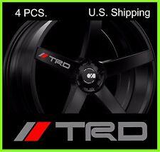 4 TRD Tacoma Stickers Decals Door Handle Mirror Wheels Rims Toyota SILVER