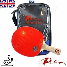 Palio T009 Table Tennis Bat with case CJ8000 rubbers ITTF approved * UK SELLER *
