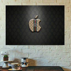 Gucci apple poster print all sizes modern art deco frame not included