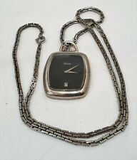 Vintage Maurice Lacroix Pendant Watch On Long Silver Chain