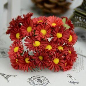 10PCS Lot Mini Silk Daisy Artificial Flowers Party Home Decor Xmas Gift New