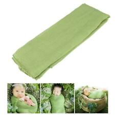 Newborn Baby Boys Girls Cute Stretch Wrap Infant Photography Photo Prop Green
