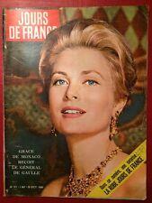 Jours De France - 29/10/60 Grâce de Monaco De Gaulle Kennedy Mylène Demongeot