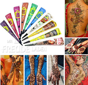 10x Golecha Henna Kegel für Mehndi Tattoo - Farbmix/Multicolor/10 Farben, 250g