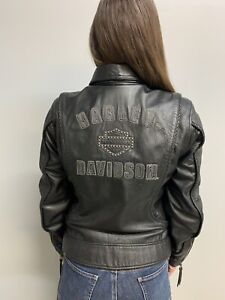 Vintage Women\u2019s Harley Davidson Leather Motorcycle Jacket size M