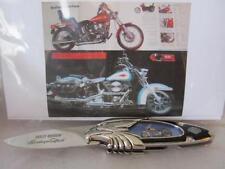 Harley Davidson Softail Motorcycle 3.5 Flip Knife Blade Franklin Mint Collector