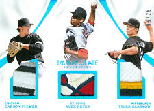 2017 IMMACULATE TRIO PLAYERS MEMORABILIA RCS REYES/FULMER/GLASNOW 5/25 FREE SHIP