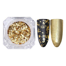 BORN PRETTY Irregular Nail Sequins Flakes Gold Silver Glitter Paillette Powder