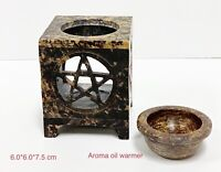 Stone Carving Handcarved Soapstone Aroma Oil Warmer