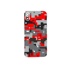 707 Skins BACK Wrap For Apple iPhone X Cover Decal Sticker - RED CAMO