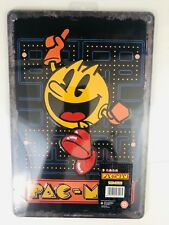 Retro Pac-Man Tin Sign - Skipping Pac Man on Game 8 x 12 Arcade Gamer Decor