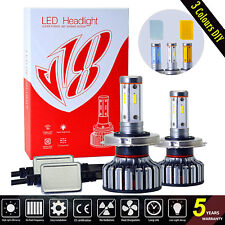 4 Sides H4 HB2 9003 120W 12800LM LED Headlight Kit Hi/Low beams Bulbs 6000K DIY