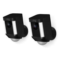 Ring Spotlight Cam - Beveiligingscamera - Met batterij - Zwart - 2 stuks