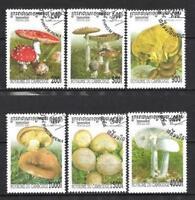 Setas Camboya (32) serie completo de 6 sellos matasellados