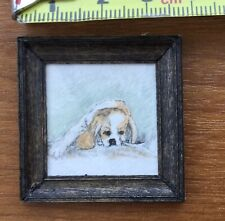 1 12 th dolls house miniatures handmade Signed Water Colour