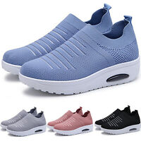 Womens Breathable Slip On Sneakers Trainers Sport Athletic Running Mesh Shoes