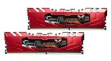 16GB G.Skill Flare X DDR4 2400MHz PC4-19200 AMD Ryzen CL16 Dual Kit (2x8GB) Red