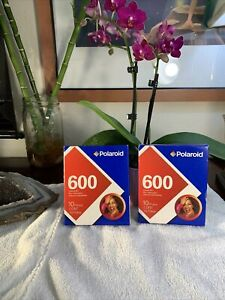 2 Polaroid 600 Instant Film Packs Photos Expired 2005 Sealed Boxes RARE New