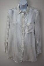 Mango Ladies Ivory & Black Pinstripe Shirt - Size: UK 6 (XS)