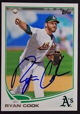 Oakland A's Ryan Cook Signed 2013 Topps Autograph Card #48 TOUGH 106