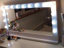 Classique tradizionale su misura Holly legno stile vanità specchio con lampadine a LED