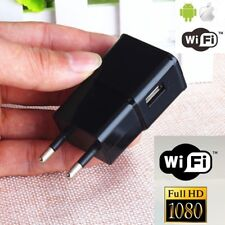 1080P 8GB WIFI HD SPY DVR Hidden EU Wall Charger Camera Adapter Plug Nanny Cam