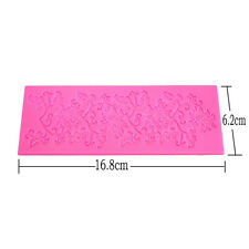 3D Silicone Fondant Embossing Mold Lace Sugarcraft Bake Tools Cake Decor Ss