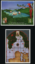 Virgin Islands 755-6 MNH Christopher Columbus, Map, Ship, Bird, Crest