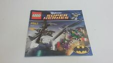 LEGO  !! INSTRUCTIONS ONLY !! FOR 6863 BAT WING