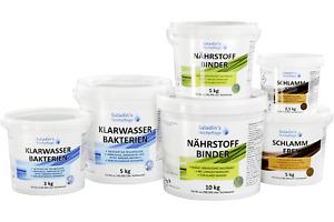Teichpflege Set für Ihren Gartenteich - Herbst/Winter-Set für Teiche bis 150 m³