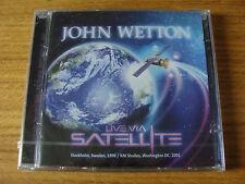 CD Double: John Wetton : Live Via Satellite 1998 & 2001 Sealed Crimson Heep Asia