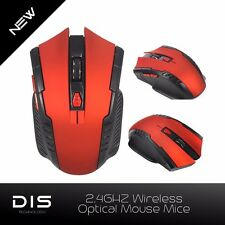 6D Button 2.4Ghz Wireless Optical Gaming Mouse Mice For Windows Mac Computer Red