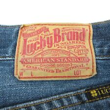 Lucky Brand Mens 30 Denim Blue Jeans 32X31 7MC1004 Straight Leg