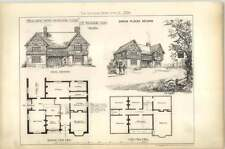 1879 Design For A Wayside Inn, By Mechlin, Elevations Plans